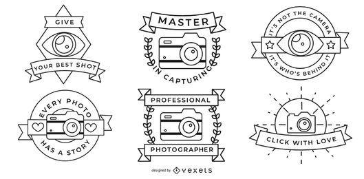 Conjunto de placas de fotógrafo