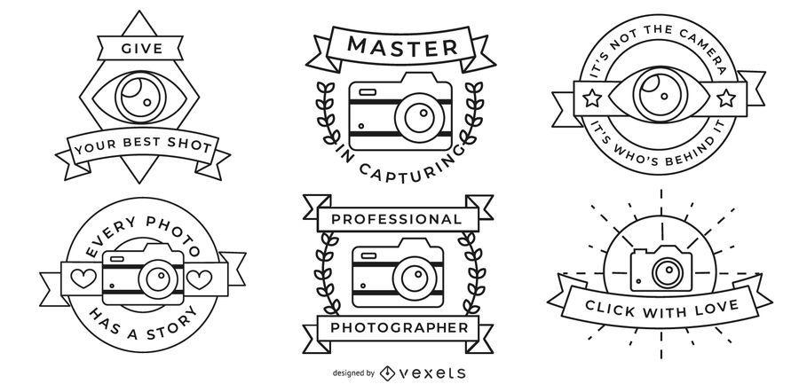 Photographer Badges Set
