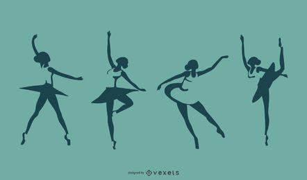 Conjunto de silueta de bailarina