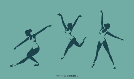 Ballett-Silhouette-Design