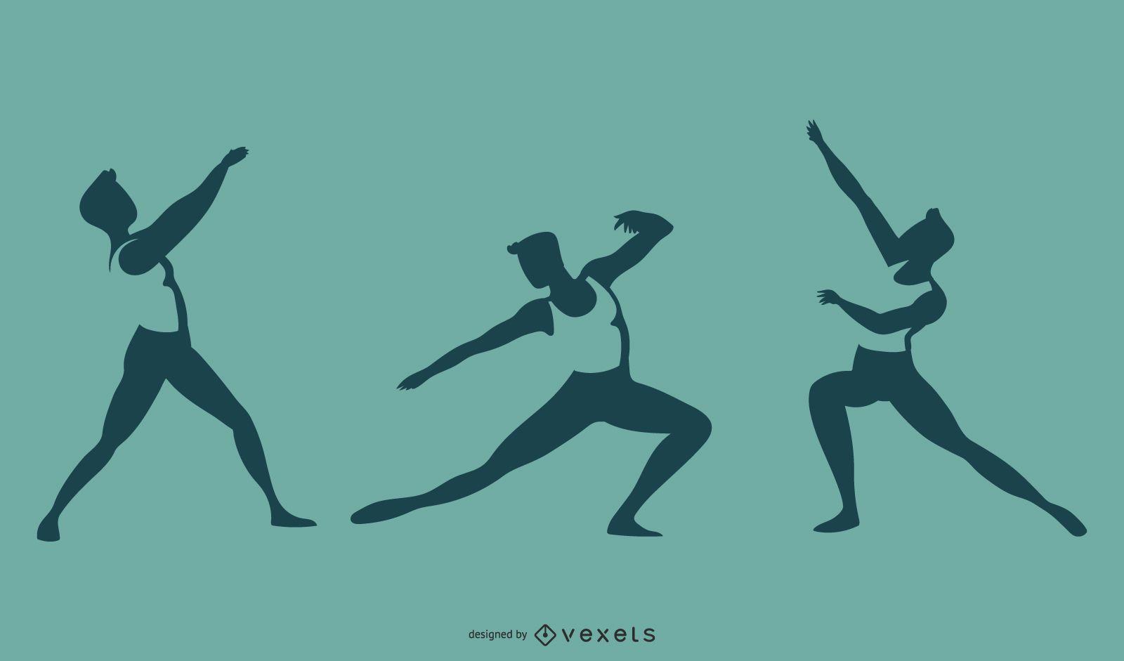 Ballet Danseur Silhouette Set