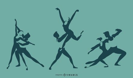 Ballet Duet Silhouette Design