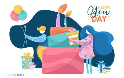 Happy You Day Background Design