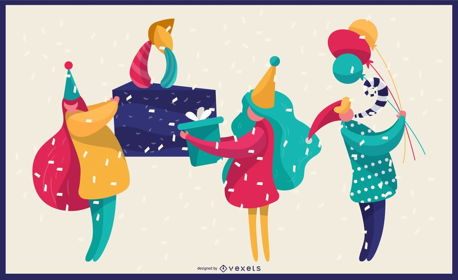 Vibrant Birthday Illustration