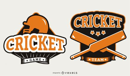 Orange Cricket Badges Design