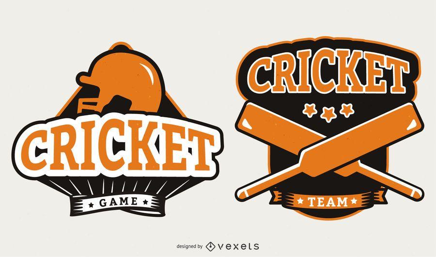 Orange Cricket Abzeichen Design