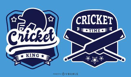 Conjunto de emblemas temáticos de críquete