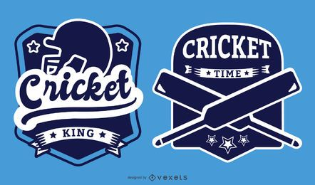 Cricket Themed Badges Set