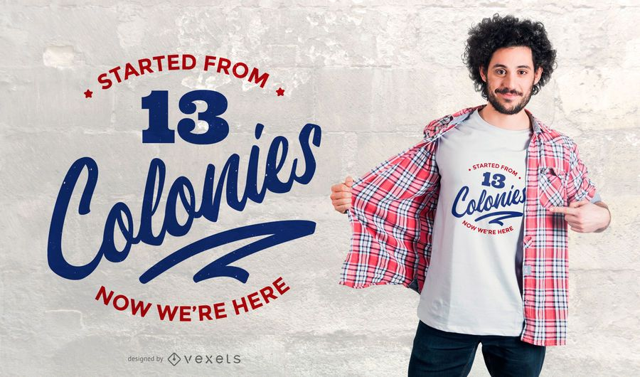 colonies t-shirt design