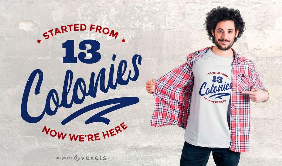 projeto do t-shirt das colônias