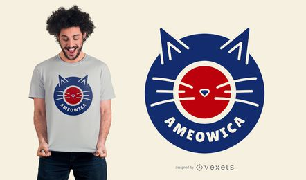 Ameowica cat t-shirt design