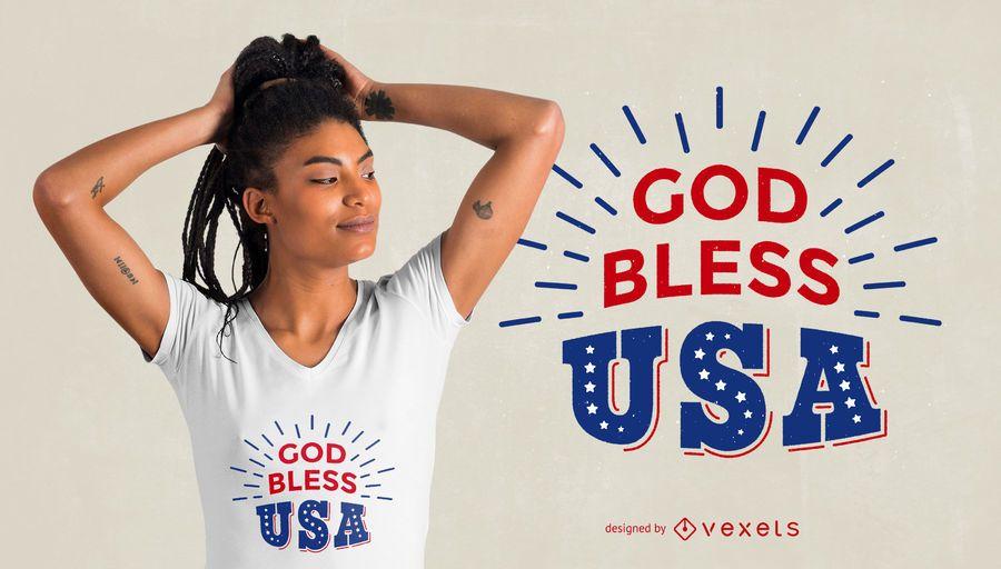 Dios bendiga el diseño de la camiseta
