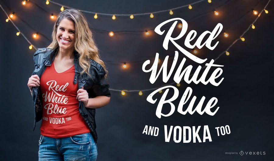 Cores e vodka design de t-shirt