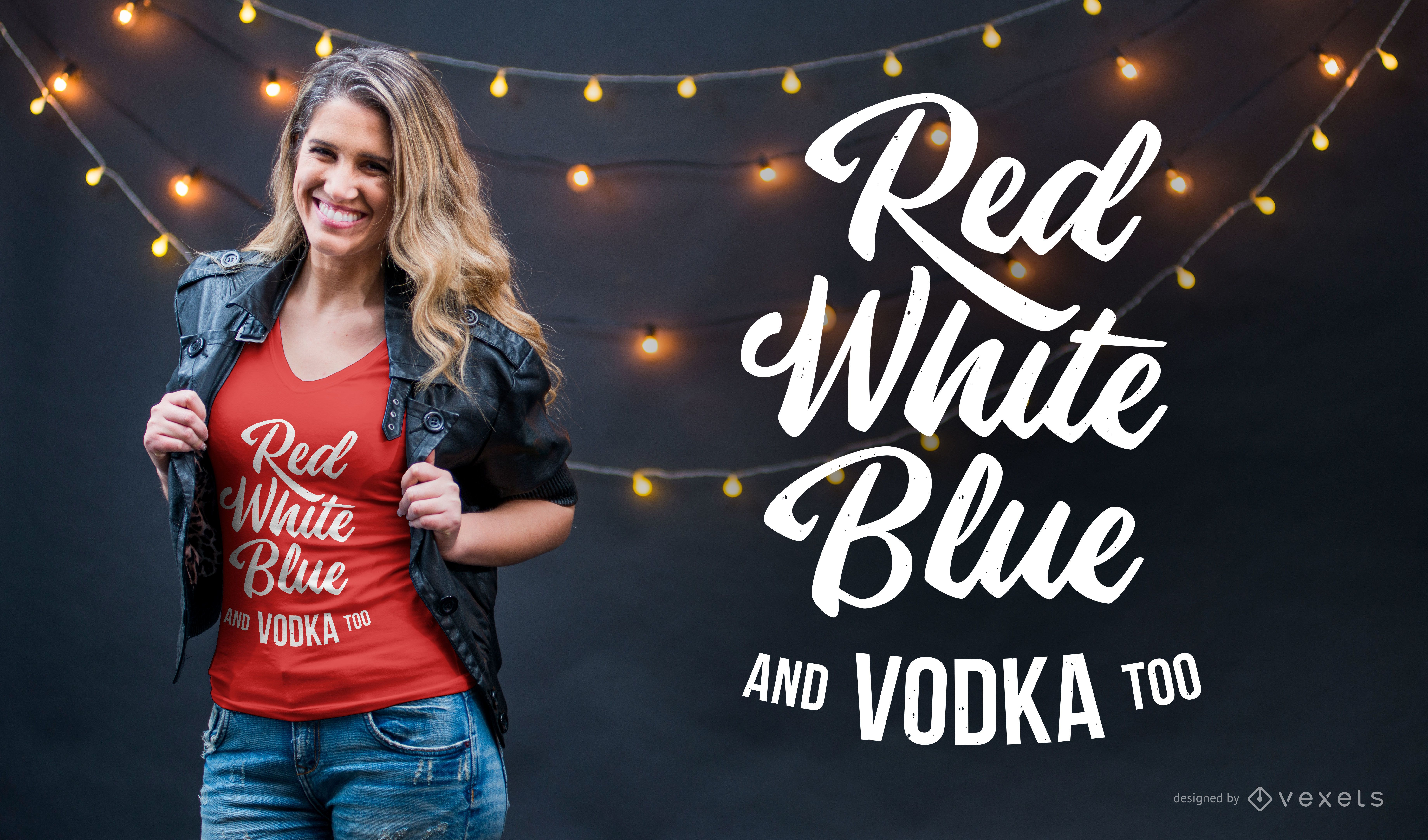Colors and vodka t-shirt design