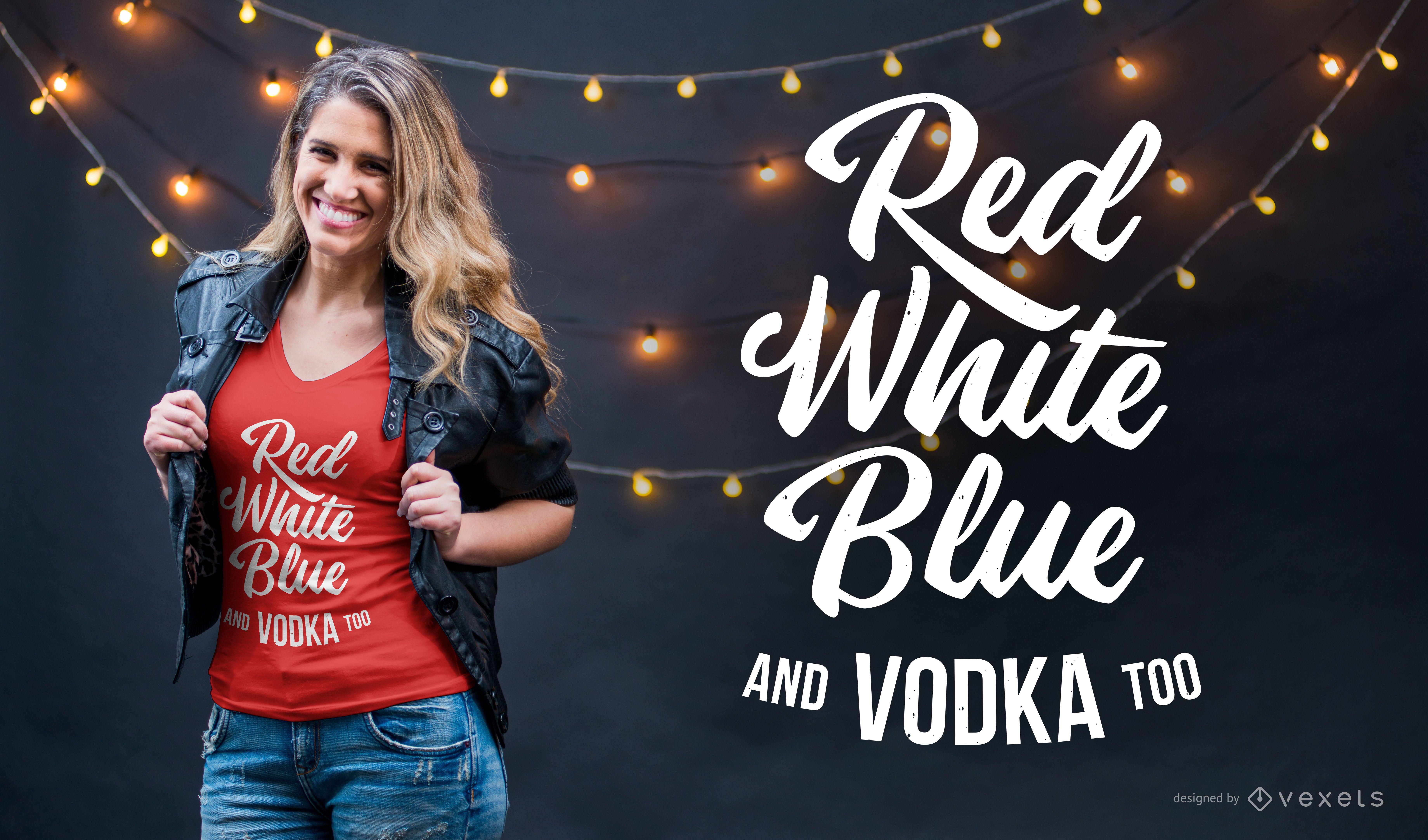 Dise?o de camiseta de colores y vodka.