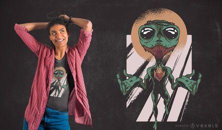 Diseño de camiseta Alien Jesus