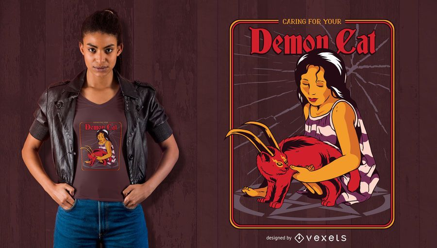 Demon Cat T-shirt Design