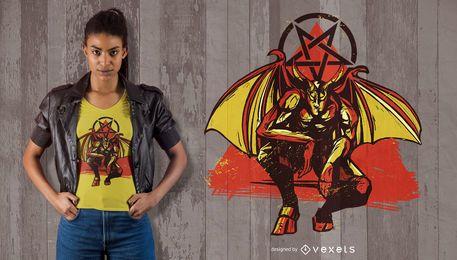 Design de camiseta do Lúcifer Alado