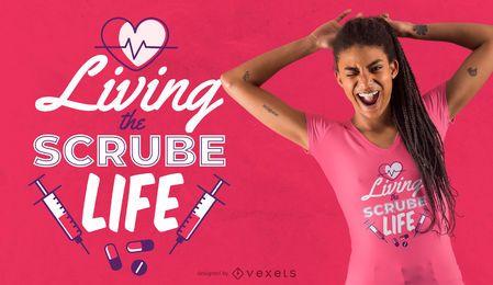 Projeto do t-shirt das citações da enfermeira