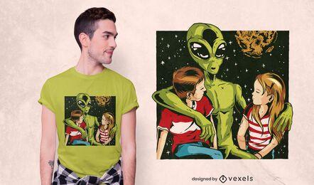Fale com estranhos Design de camiseta