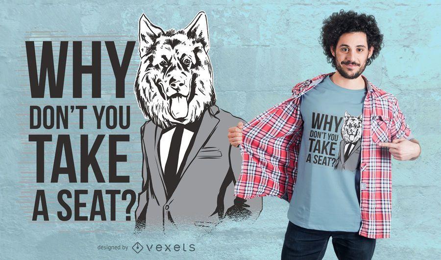 Diseño de camiseta Take a Seat