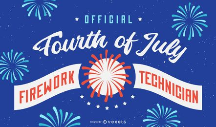 Firework technician background design
