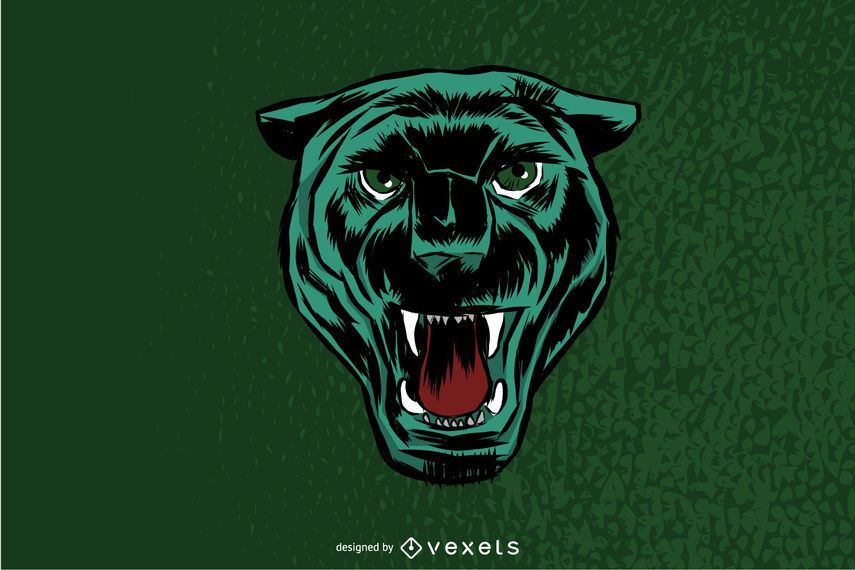 Angry panther illustration