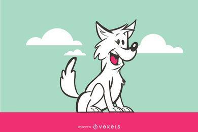Caricatura, cão, ilustração