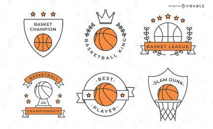 Colección de insignias de baloncesto