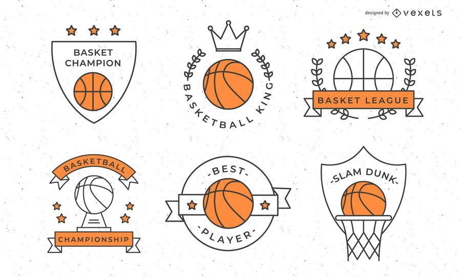 Coleção de distintivo de basquete