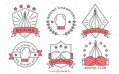 Conjunto de distintivos de boxe