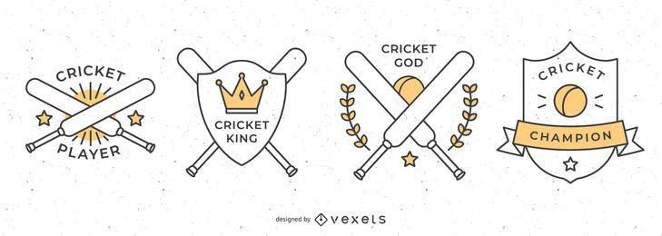 Cricket-Abzeichen-Auflistung
