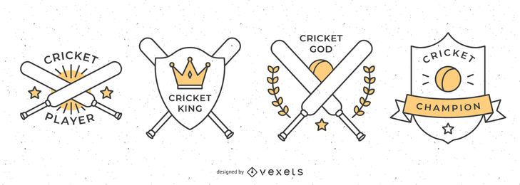 Cricket Badge Collection