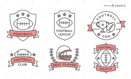 Diseño de insignia de deporte de fútbol