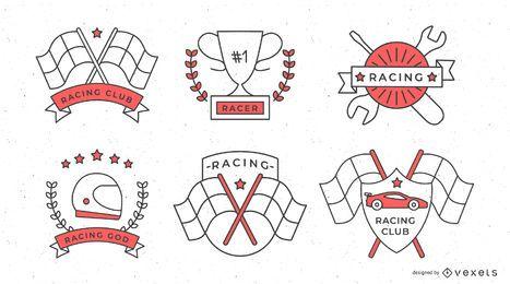 Conjunto de distintivos de corrida de Fórmula 1