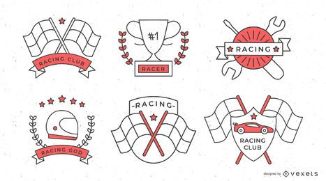 Formel 1 Racing Abzeichen Set