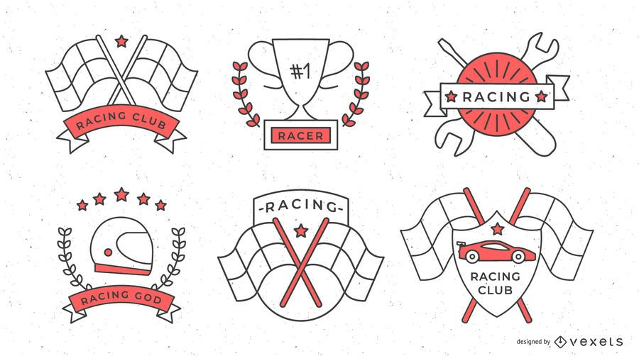 Fórmula 1 Racing Badge Set
