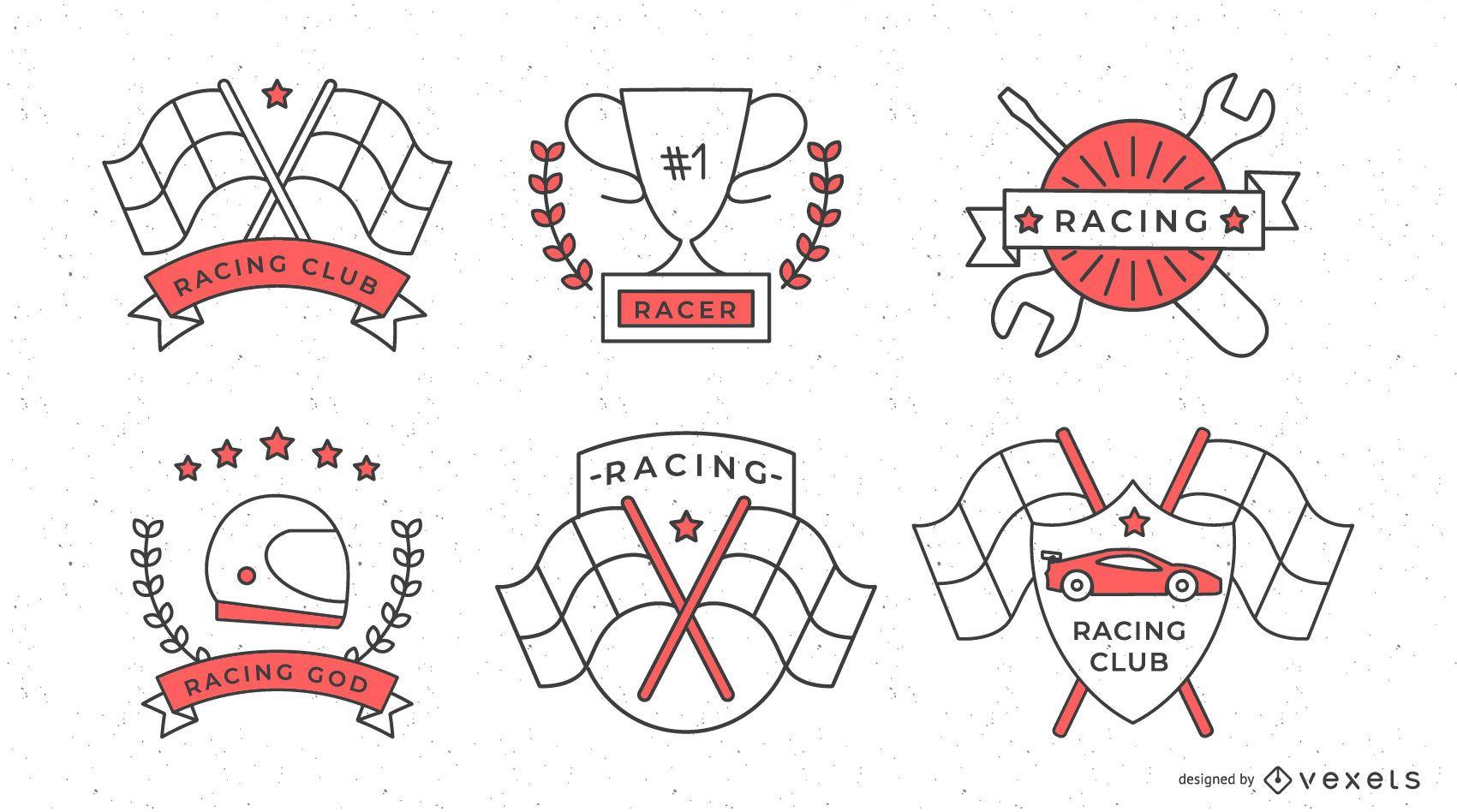 Conjunto de insignias de carreras de Fórmula 1