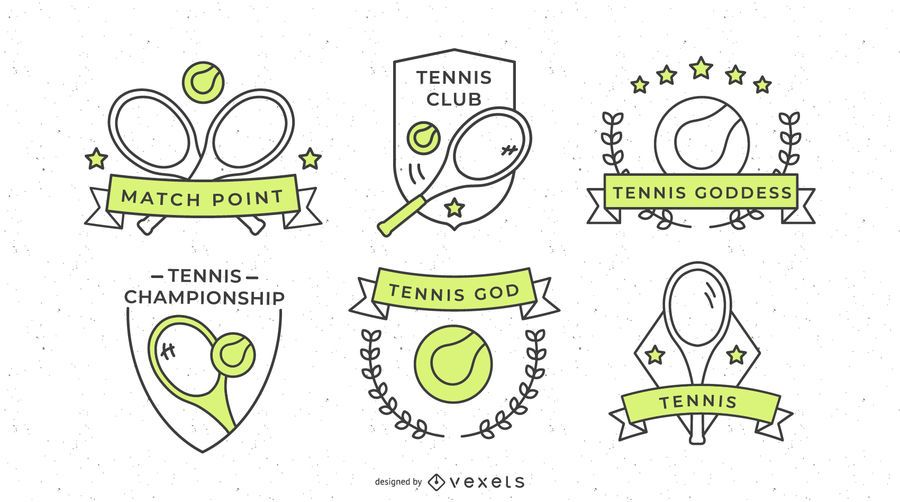 Design de distintivo de esportes de tênis