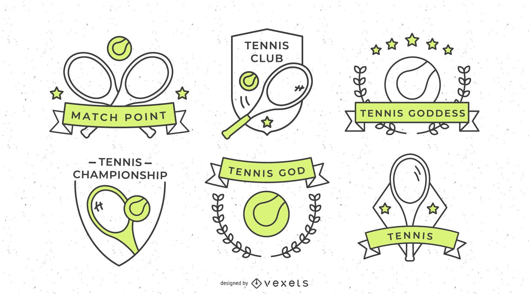 Tennis Sports Badge Design