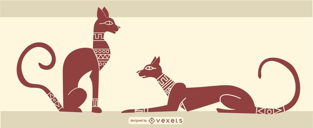 diseño de gato egipcio con estilo