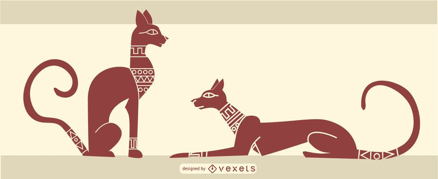 stylish egyptian cat design