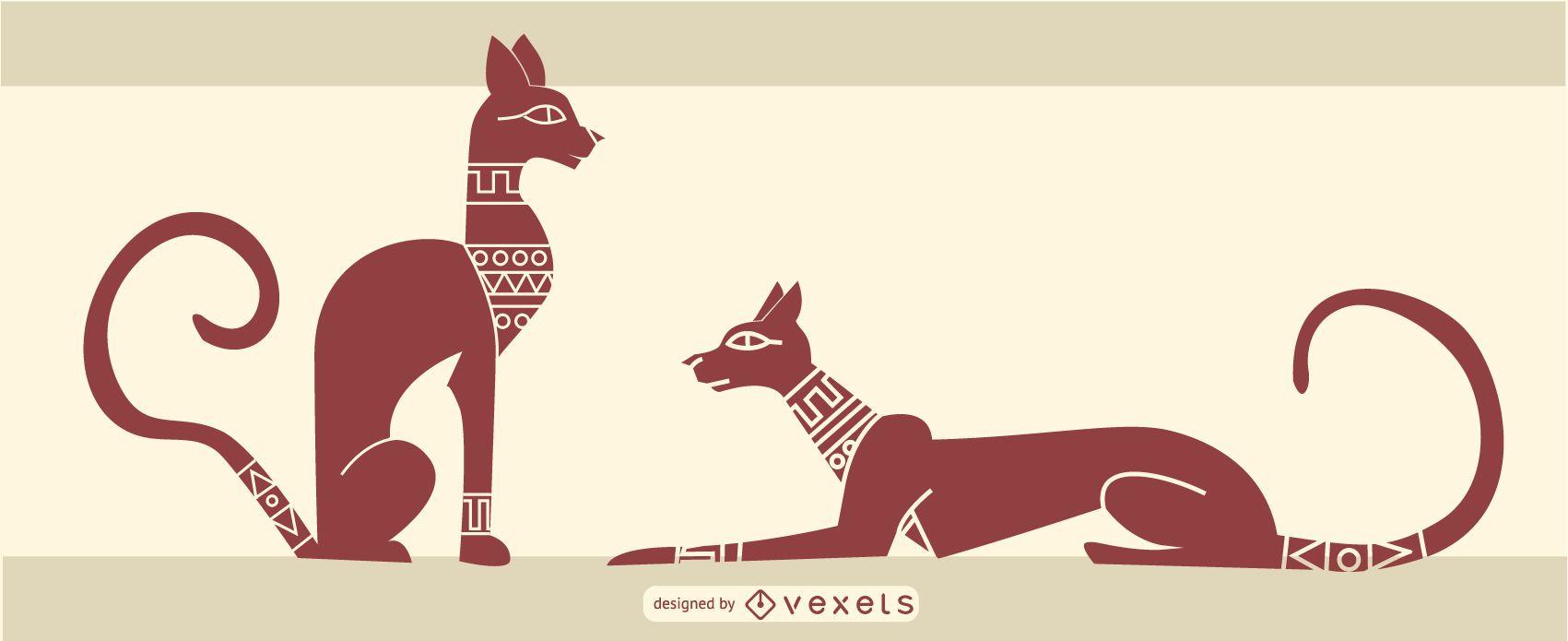 stylish egyptian cat design