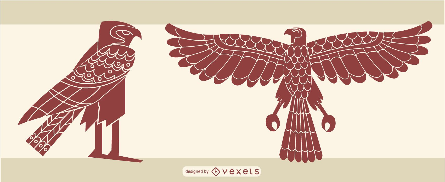 elegante diseño de águila egipcia