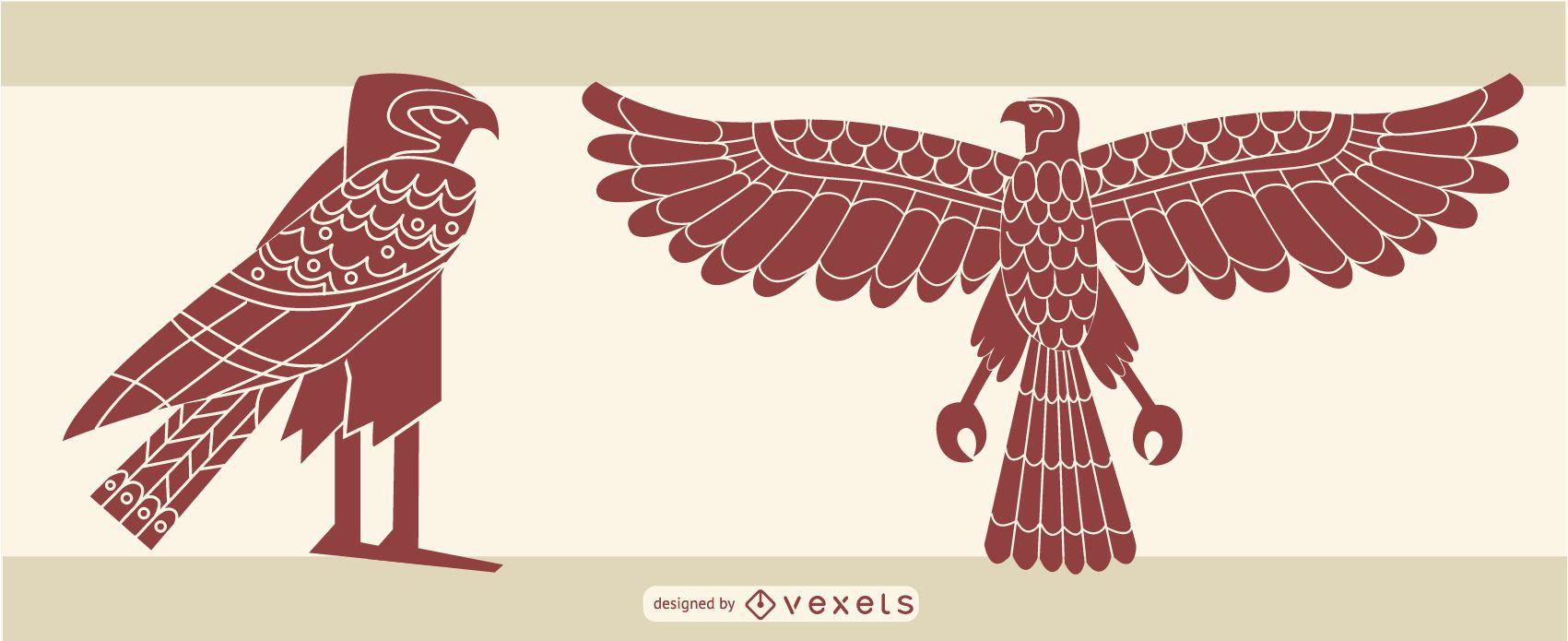 stylish egyptian eagle design