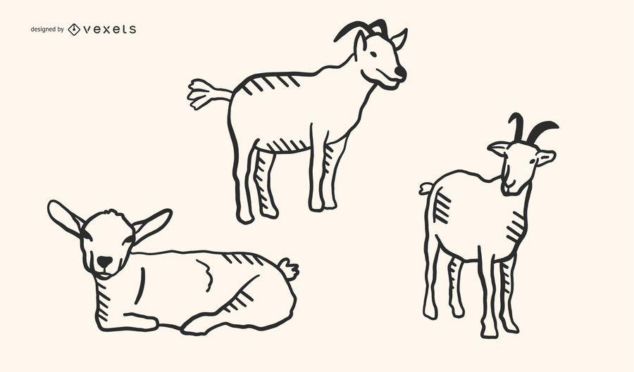 Conjunto de contorno de cabra