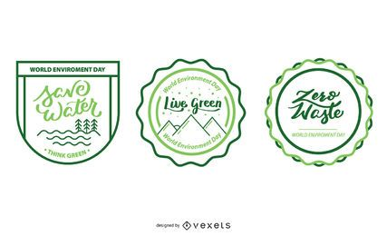 Ecologic badge designs