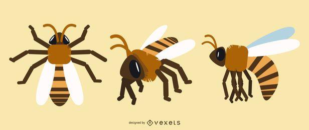 Diseños geométricos de abejas