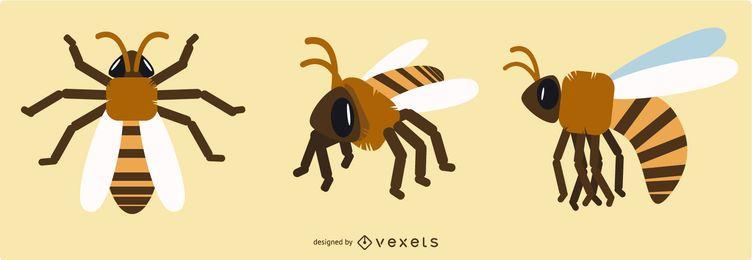 Geometrische Bienen-Entwürfe