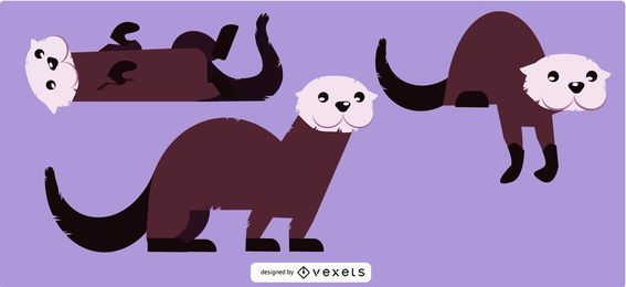 Ilustrações de lontra